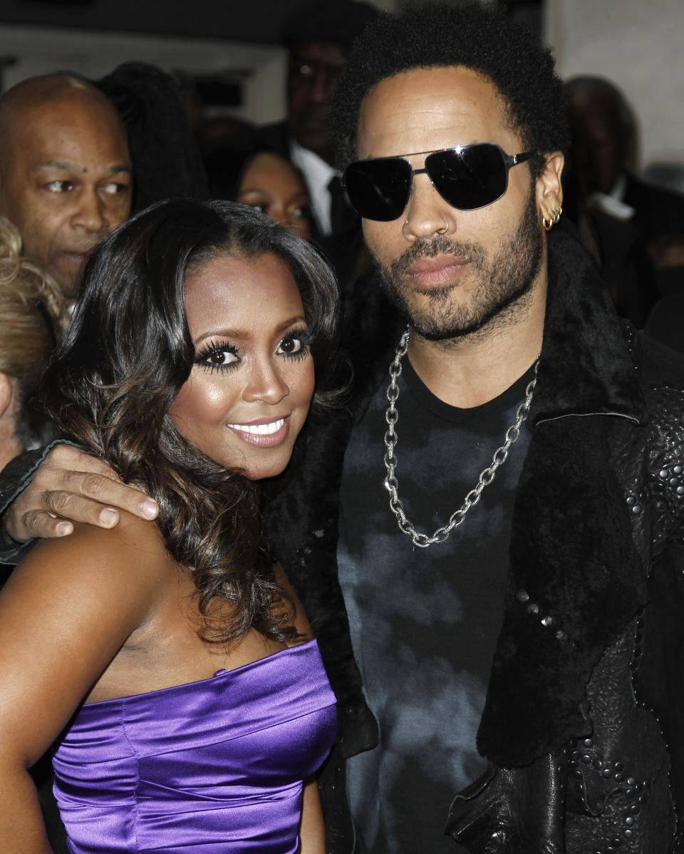 Keshia Knight Pulliam, left, and Lenny Kravitz arrive at the 43rd NAACP Image Awards on Friday, Feb. 17, 2012, in Los Angeles. (AP Photo/Matt Sayles)