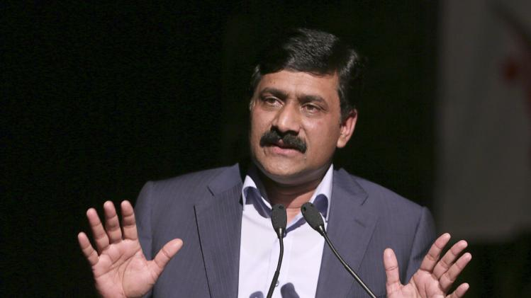 Ziauddin Yousafzai, the father of Pakistani schoolgirl activist Malala Yousafzai, and a United Nations Special Advisor on Global Education, speaks at a youth symposium and cultural show held in his daughter's honour in Port-of-Spain