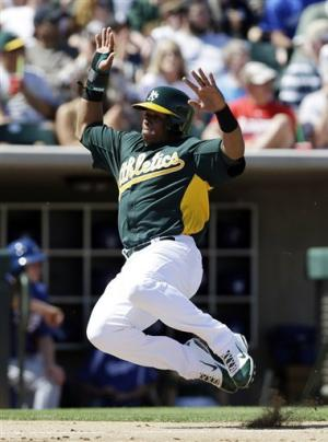 Crawford hits 1st HR for Dodgers in loss to A's