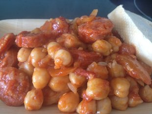 Garbanzo Beans with Chorizo