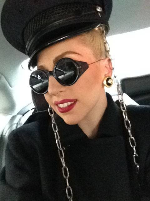 Lady Gaga posted this picture on Twitter with the caption 'So happy! The Stage is more than I could dream for, time to kill the dance floor. Off to rehearsal. #5DaysTillBTWBall'  Credit: Lady Gaga/Twi