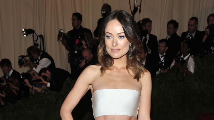 "Olivia Wilde attends The Metropolitan Museum of Art's Costume Institute benefit celebrating ""PUNK: Chaos to Couture"" on Monday May 6, 2013 in New York. (Photo by Charles Sykes/Invision/AP)"
