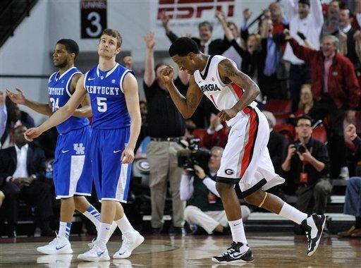 Caldwell-Pope, Georgia beat reeling Kentucky 72-62