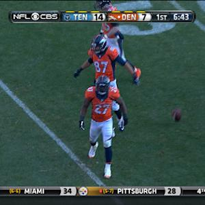 Denver Broncos running back Knowshon Moreno 25-yard run