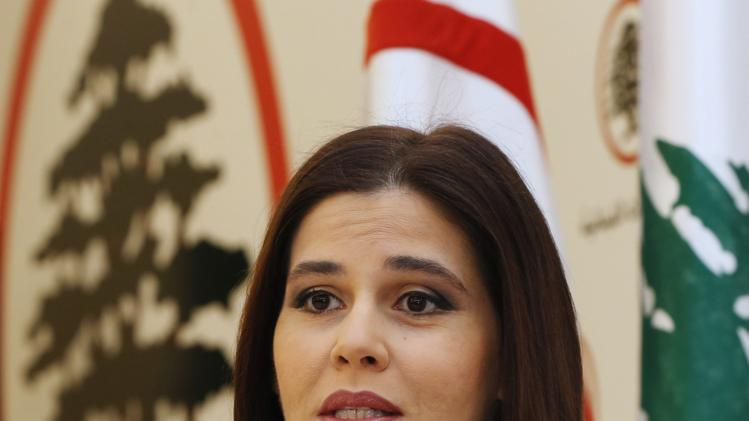 Lebanese MP Sethrida Geagea, speaks during an interview with Reuters in Maarab