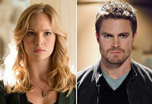 Candice Accola, Stephen Amell  | Photo Credits: Bob Mahoney/The CW, Jack Rowand/The CW