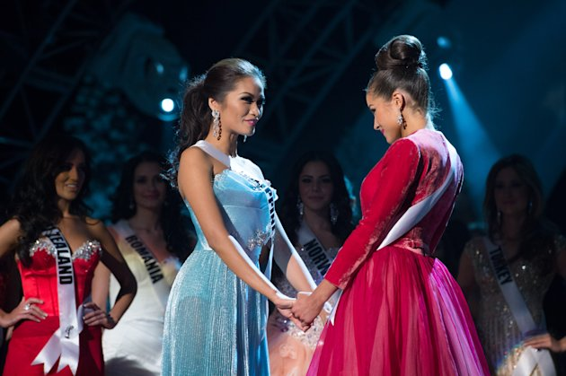 Miss Universe Philippines, Janine Tugonon, is declared first runner-up as, Miss USA, Olivia Culpo, is named the winner of the 2012 Miss Universe Competition. She will be crowned with the Diamond Nexus Labs crown at the close of the LIVE NBC Telecast of the 2012 Miss Universe Competition at PH Live in Las Vegas, Nevada on December 19, 2012.