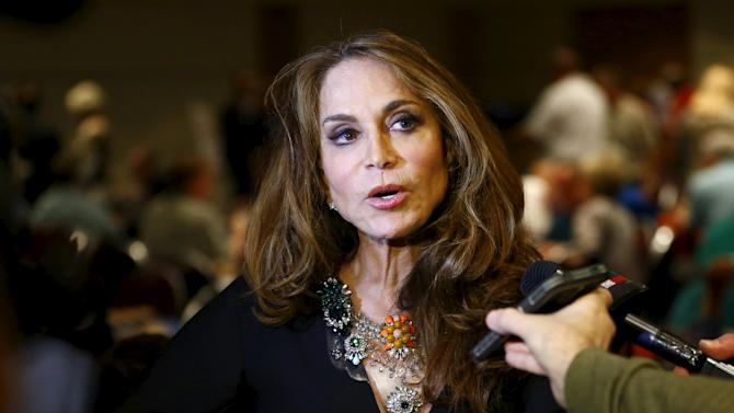 Political blogger Geller speaks at the Muhammad Art Exhibit and Contest, which is sponsored by the American Freedom Defense Initiative, in Garland