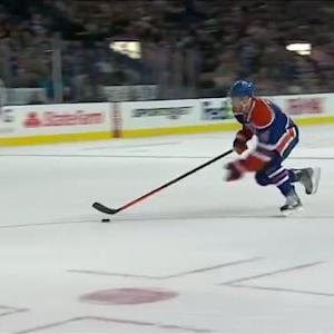 Taylor Hall slides one in on a breakaway