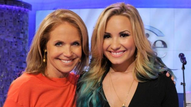 Katie Couric with Demi Lovato on 'Katie'   -- Disney