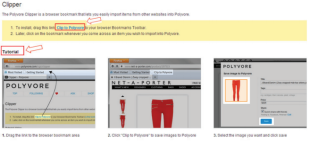 Polyvore Guide for Brands & Retailers: The Clipper Tool image Screen shot 2013 02 05 at 7.21.01 PM