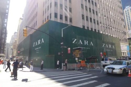 It's a Sign: Massive Zara Signage Goes Up on Lower Broadway