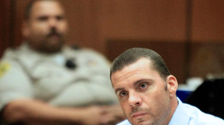 Defendant Marvin Norwood appears in Los Angeles Superior Court on Wednesday, May 30, 2012, in Los Angeles. Norwood and co-defendant Louie Sanchez are accused of beating San Francisco Giants fan Bryan Stow in the parking lot of Dodger Stadium after a baseball game on March 31, 2011.  (AP Photo/Los Angeles Times, Irfan Khan, Pool)