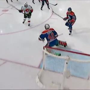 Lee Stempniak goes top-shelf on Dubnyk