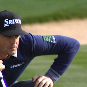 Keegan Bradley makes long birdie at Waste Management