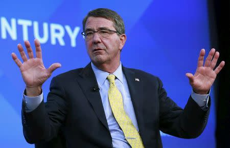 """U.S. Defense Secretary Ash Carter discusses """"Charting Global Security in the 21st Century"""" at the Wall Street Journal CEO Council 2015 annual meeting in Washington"""