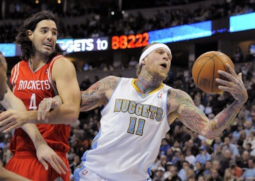 Scola leads Rockets past hurting Nuggets 99-90