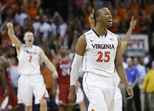 Harris lead Virginia past No. 19 Wolfpack, 58-55