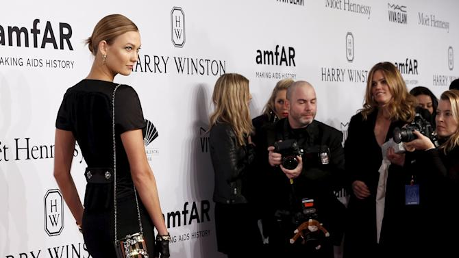 Model Karlie Kloss attends the 2016 amfAR New York Gala at Cipriani Wall Street in Manhattan, New York.