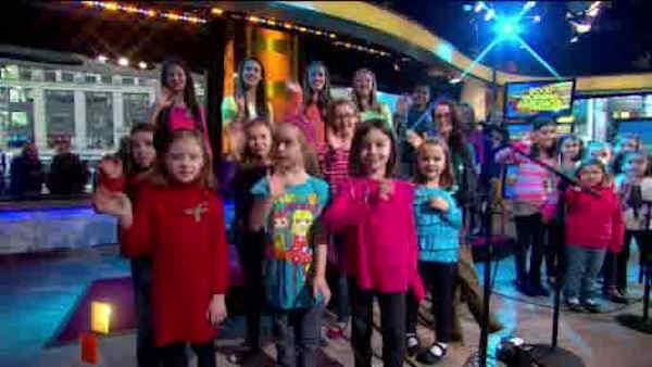 Sandy Hook students perform song on Good Morning America