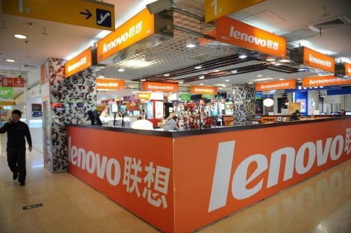 <p>A Lenovo shop is seen at a computer mall in Beijing, in 2011. Lenovo Group said on Thursday it had become the global market leader in consumer and notebook personal computers, as it posted a 13 percent rise in second-quarter net profit.</p>