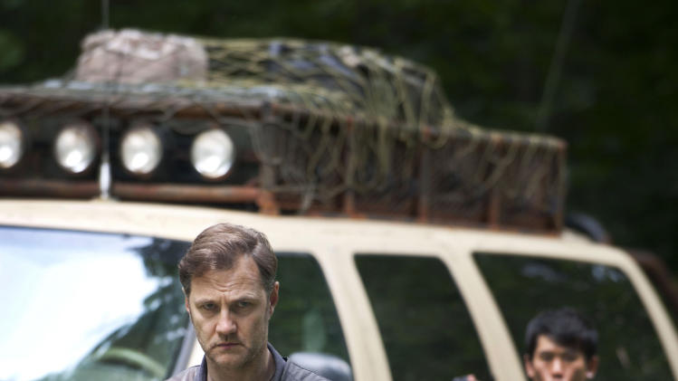 "This undated publicity photo released by AMC shows David Morrissey as The Governor in a scene from AMC's TV show, ""The Walking Dead,"" Season 3, Episode 1. The show airs Sundays at 9 p.m. EST on AMC. (AP Photo/AMC, Gene Page)"