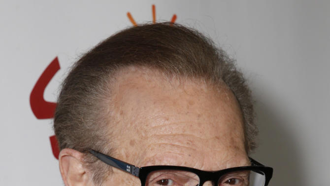 """Larry King attends the LA premiere of """"Escape from Planet Earth"""" at the Chinese Theater on Saturday, Feb. 2,2013 in Hollywood. (Photo by Todd Williamson/Invision/AP Images)"""