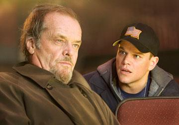Jack Nicholson and Matt Damon in Warner Bros. Pictures' The Departed