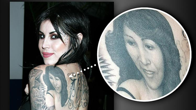 Kat Von D's tattoo Mom