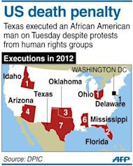 Graphic on executions in the US this year. Authorities in the southern US state of Texas executed an African American man on Tuesday despite protests from human rights groups that said he was mentally disabled