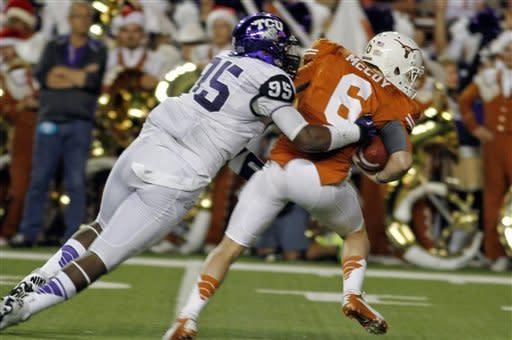 Defense sparks TCU over No. 18 Texas 20-13