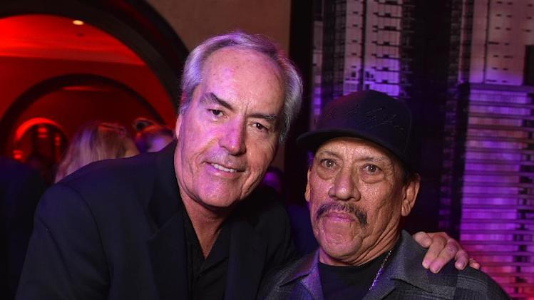 "Powers Boothe, left, and Danny Trejo attend the ""Sin City: A Dame to Kill For"" premiere presented by Dimension Films in partnership with Time Warner Cable, Dodge and DeLeon Tequila at TCL Chinese Theatre on Tuesday, August 19, 2014, in Los Angeles. (Photo by John Shearer/Invision for The Weinstein Company/AP Images)"