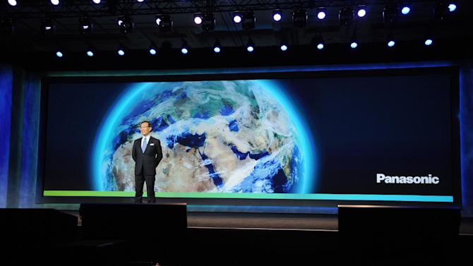 IMAGE DISTRIBUTED FOR PANASONIC - CEO of Panasonic, Kazuhiro Tsuga, seen during the Panasonic keynote presentation at the International Consumer Electronics Show 2013, on Tuesday, Jan. 08, 2013, in Las Vegas, NV. (Photo by Al Powers/Invision for Panasonic/AP Images)