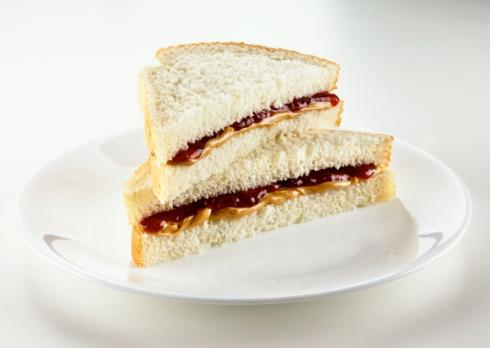7. Peanut butter and jelly sandwich