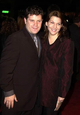 Sean Astin and wife at the Hollywood premiere of New Line's The Lord of The Rings: The Fellowship of The Ring