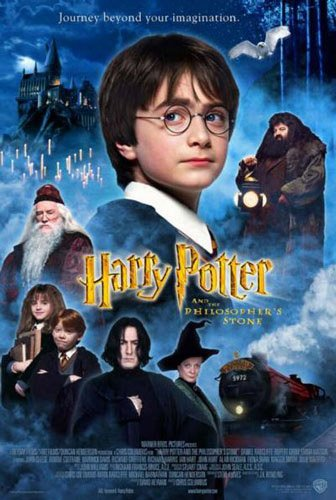 A poster for the British version of Warner Brothers' Harry Potter and The Sorcerer's Stone