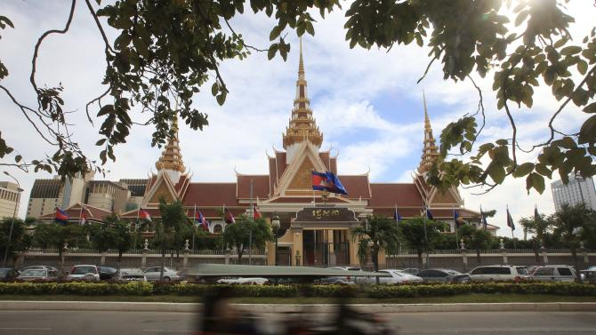 A general view of the National Assembly in Phnom Penh