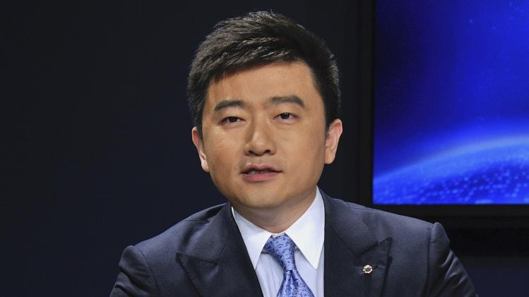 China Central Television host Rui Chenggang speaks during a conference in Dalian