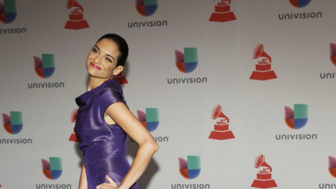 Natalia Jimenez arrives at the 15th Annual Latin Grammy Awards in Las Vegas