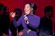 Singer Yolanda Adams performs at &quot;Play It Forward: A Celebration of Music&#39;s Evolution and Influencers&quot; at the Grammy Foundation&#39;s 15th Annual Music Preservation Project, Thursday, Feb. 7, 2013, in Los Angeles. (Photo by Vince Bucci/Invision/AP)