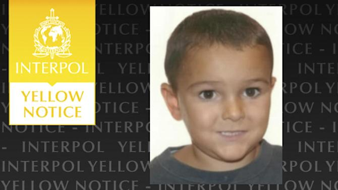 The Yellow Notice issued by the international police force Interpol, Friday Aug. 29, 2014, asking for help to locate the missing five-year old boy Ashya King, who is believed to be in France. Police are searching for the five-year-old British boy who is suffering with a severe brain tumor whose parents, believed to be Jehovah's Witnesses, took him out of a British hospital on Thursday and were last seen in France. The boy needs urgent medical treatment. (AP Photo/Interpol)
