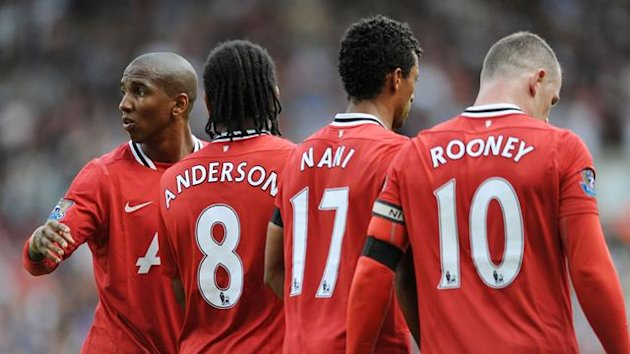 manchester united, nani, wayne rooney, anderson, ashley young