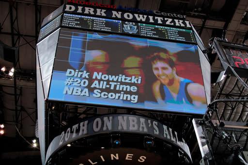 Nowitzki's 26 help lead Mavs over Celtics, 89-73