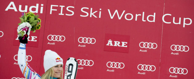 Lindsey Vonn Of The US Reacts 