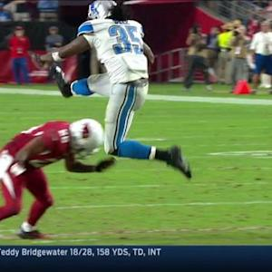 Detroit Lions running back Joique Bell catches a screen pass and gains 21 yards