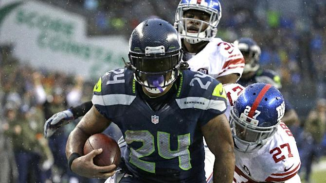 Lynch's 4 TDs lead Seahawks past Giants 38-17