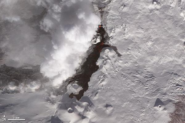 Fearsome Foursome of Eruptions Seen from Space