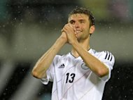 Bayern Munich striker Thomas Mueller, pictured in May 2012, said he would mull over reported interest in his services from Inter Milan -- but only after he has completed Euro 2012 with Germany