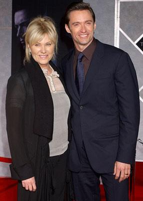 Hugh Jackman with wife Deborra-Lee Furness at the Hollywood premiere of Touchstone Pictures' The Prestige