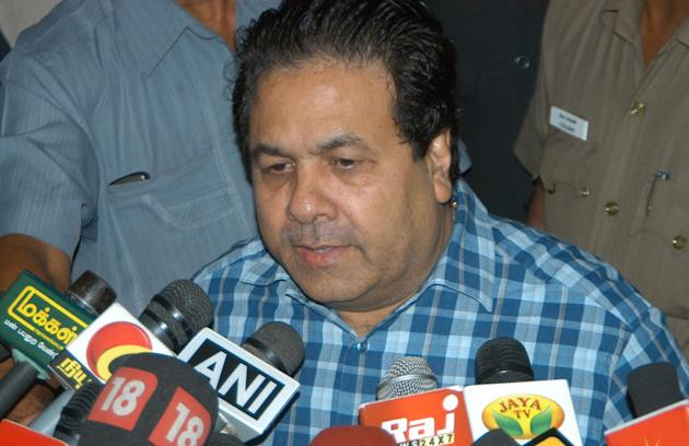 Rajeev Shukla after BCCI Special General Meeting in Chennai on Sept. 25, 2013. (Photo: IANS)